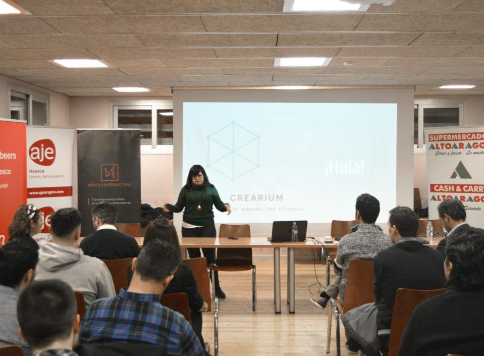 Ponencia sobre proyecto emprendedor en el primer evento Betabeers de Huesca